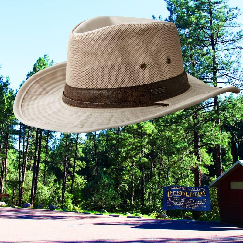 画像1: ペンドルトン メッシュクラウン シェイパブルブリム ハイカー ハット(パテ)M/Pendleton Shapable Hiker Hat(Putty) (1)