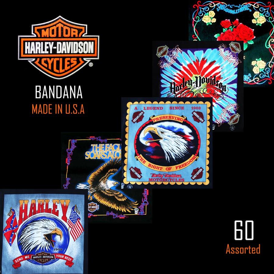画像1: ハーレーダビッドソン バンダナ(60枚)/Harley Davidson Bandanas (1)