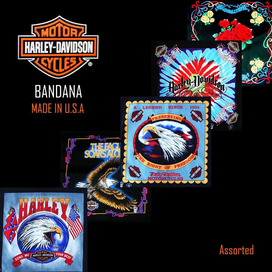 画像1: ハーレーダビッドソン バンダナ(5枚アソート)/Harley Davidson Bandanas (1)
