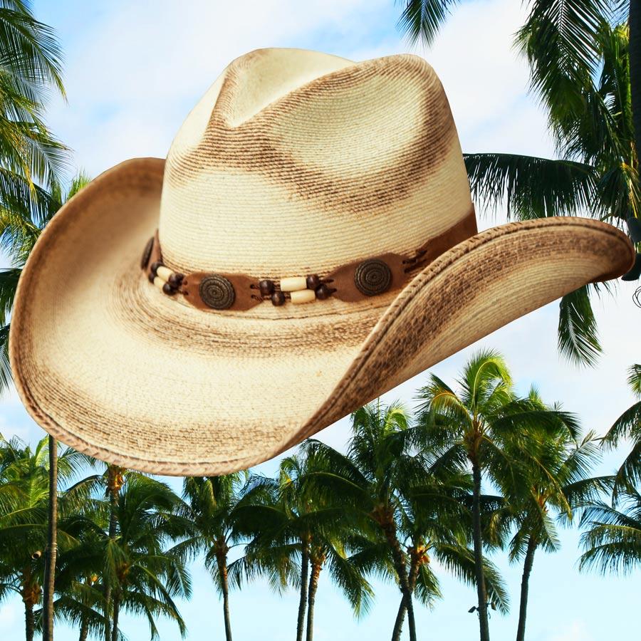 画像1: ウエスタン ストローハット(ナチュラル・パーム)/Western Straw Hat (1)