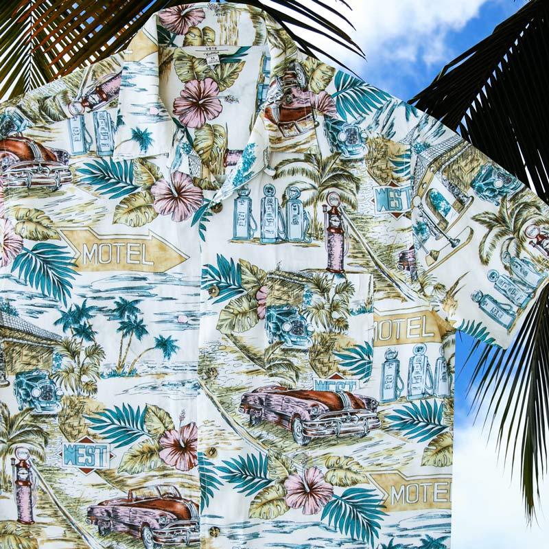 画像1: バケーション ハワイアン シャツ(ナチュラル)M/Short Sleeve Hawaiian Shirt(Natural) (1)