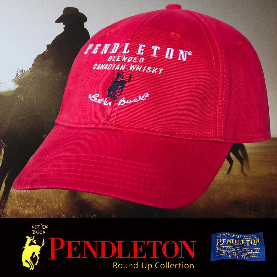 画像1: ペンドルトン ロデオ キャップ(レッド)/Pendleton Round Up Whisky Cap(Red) (1)
