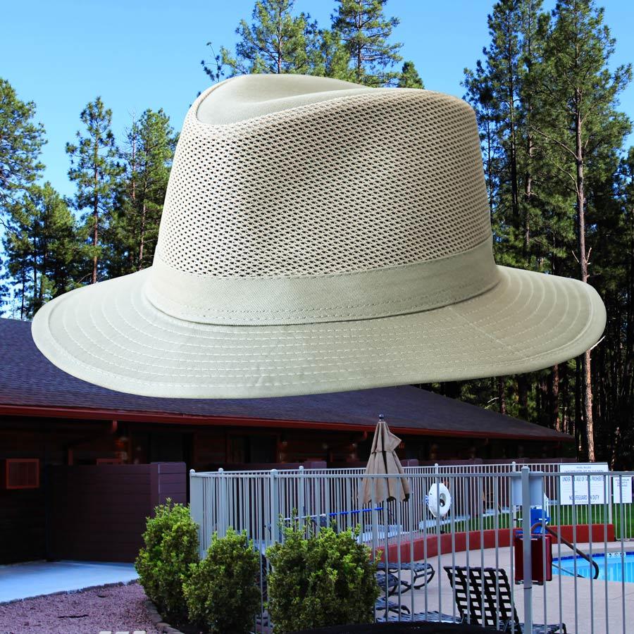画像1: メッシュクラウン サファリ ハット(カーキ)/Mesh Crown Safari Hat(Khaki) (1)