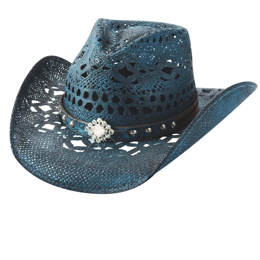 画像1: ウエスタン ストローハット(デニム)/Western Straw Hat(Denim) (1)