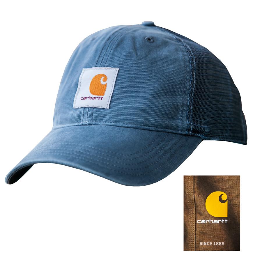 画像1: カーハート サンドストーン ロゴ キャップ(デニム)/Carhartt Sandstone Trucker Cap(Denim) (1)