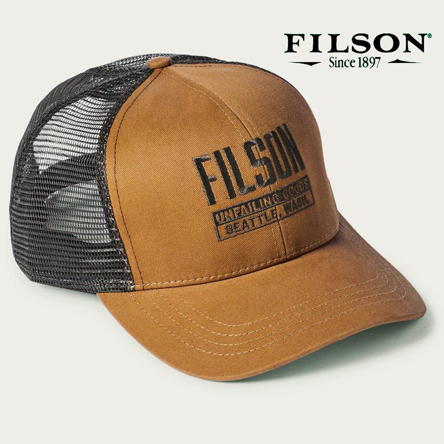 画像1: フィルソン 刺繍 ロゴ メッシュ キャップ(ダークタン)/Filson Twill Mesh Cap(Dark Tan) (1)