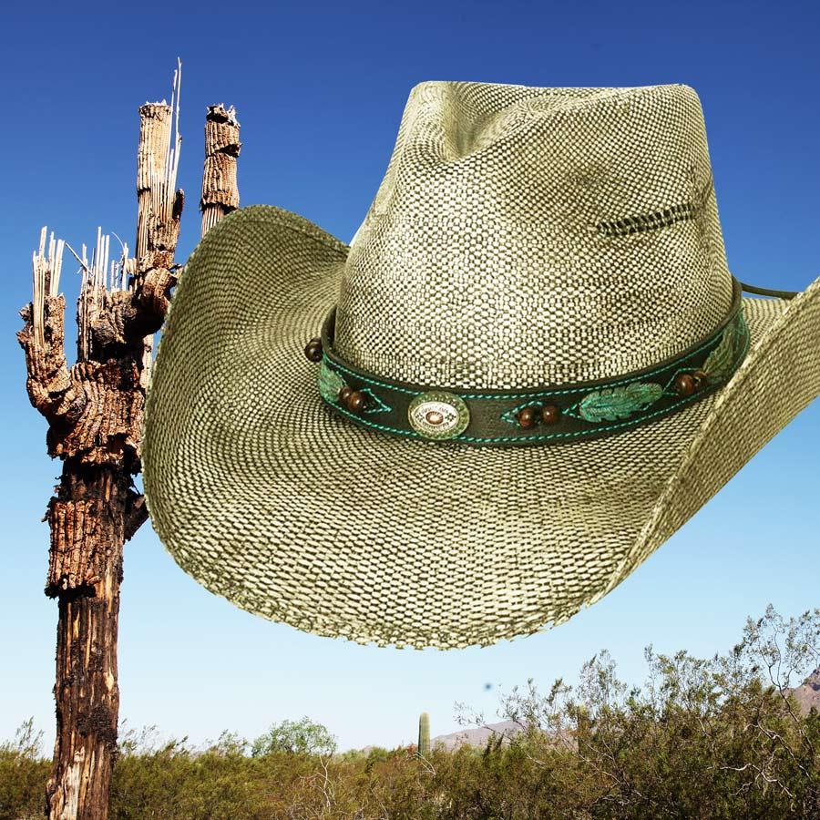 画像1: ブルハイド ウエスタン ストローハット(ランページ)/BULLHIDE Western Straw Hat Rampage (1)