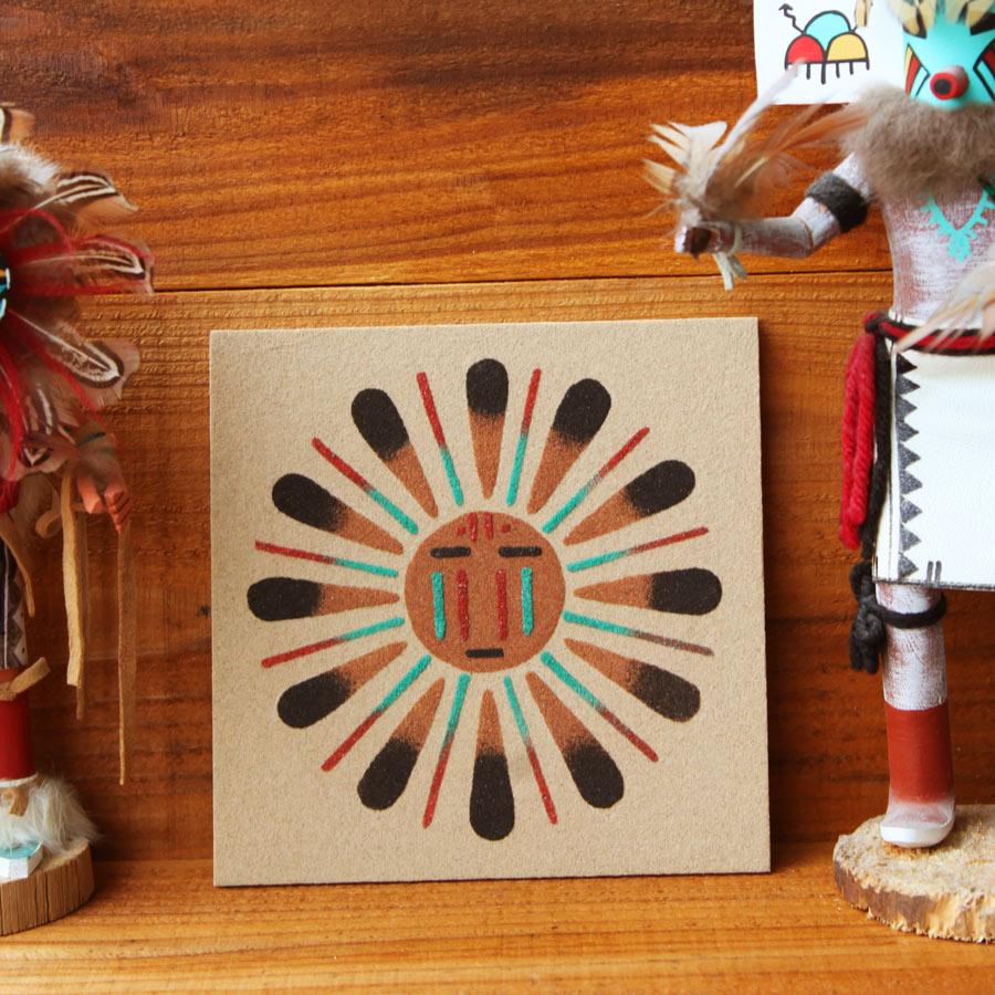 画像1: サンドペイント 砂絵 ナバホ インディアン ハンドメイド/Americn Indian Navajo Sandpainting (1)