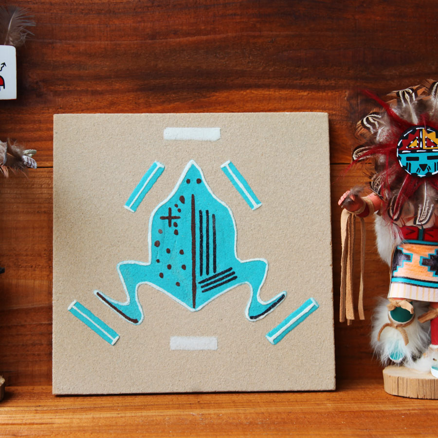 画像1: ナバホ インディアン ハンドメイド サンドペイント 砂絵/Americn Indian Navajo Sandpainting (1)