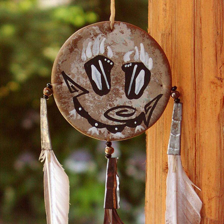 画像1: ハンドメイド ナバホ シールド/Hand Made Navajo Shield (1)