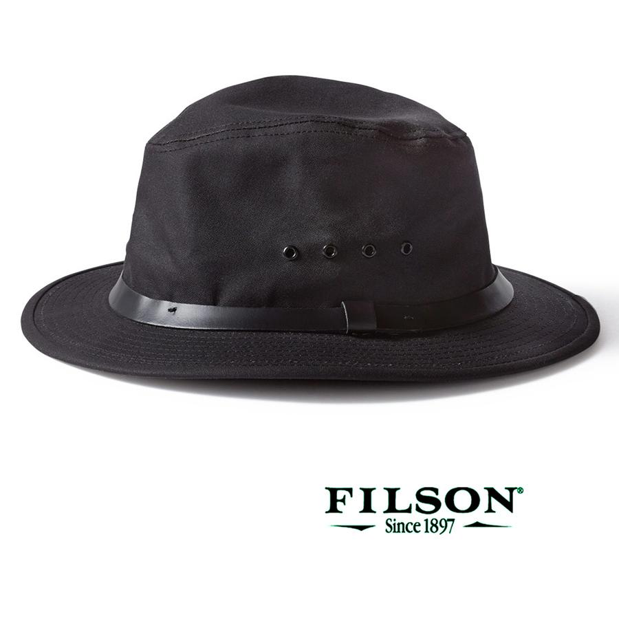 画像1: フィルソン オイルフィニッシュ ティンクロス パッカー ハット(ブラック)/Filson Tin Packer Hat(Black) (1)