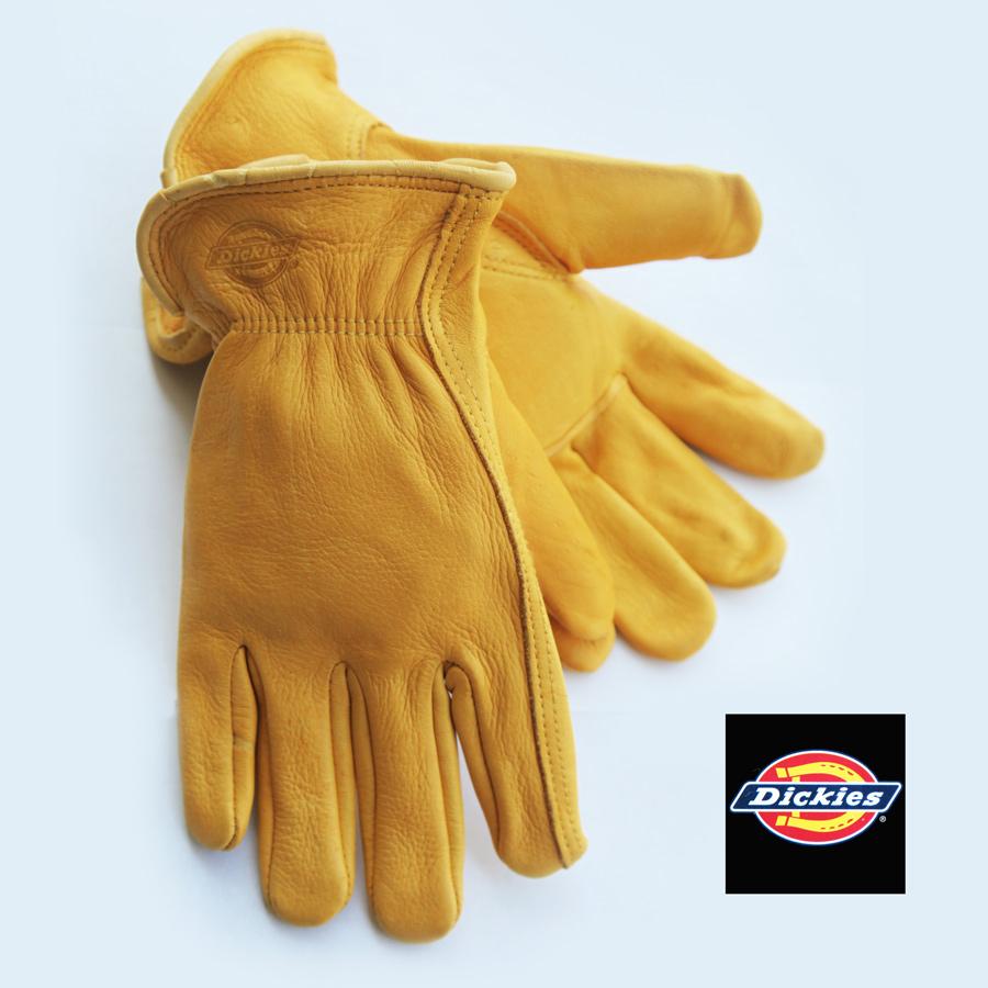 画像1: ディッキーズ ディアスキン グローブ(鹿皮手袋・裏地なし)M/Dickies Genuine Deerskin Leather Gloves(Pine Yellow) (1)