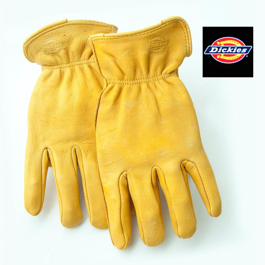 画像1: ディッキーズ 鹿革手袋 パインイエロー(裏地なし)M/Dickies Genuine Deerskin Leather Gloves(Pine Yellow) (1)