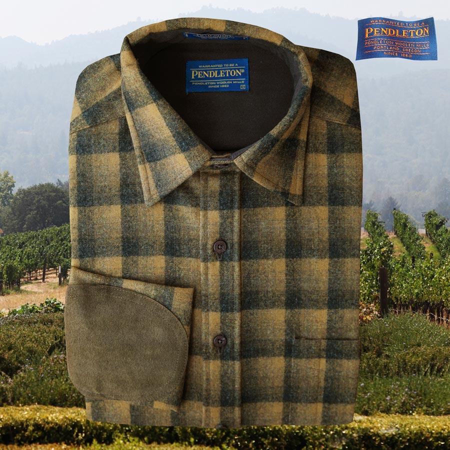 画像1: ペンドルトン ウール シャツ・エルボーパッチ トレイルシャツ ブロンズ・チャコールオンブレS/Pendleton Trail Shirt (Bronze Charcoal Ombre) (1)