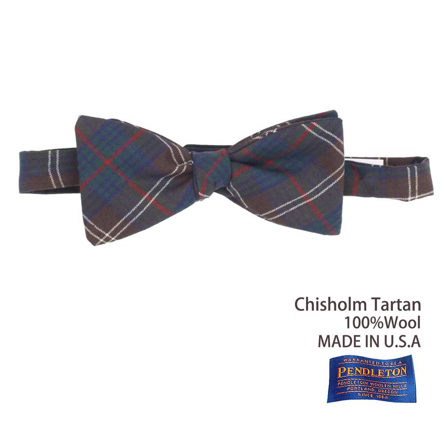 画像1: ペンドルトン アメリカ製 ウール ボウタイ 蝶ネクタイ(チズム タータン)/Pendleton Bow Tie Chisholm Tartan (1)