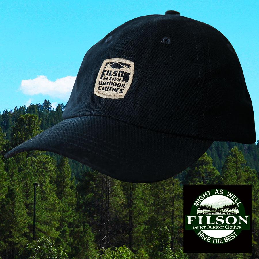 画像1: フィルソン キャップ(BETTER OUTDOOR CLOTHES/ネイビー)/Filson Baseball Cap (1)