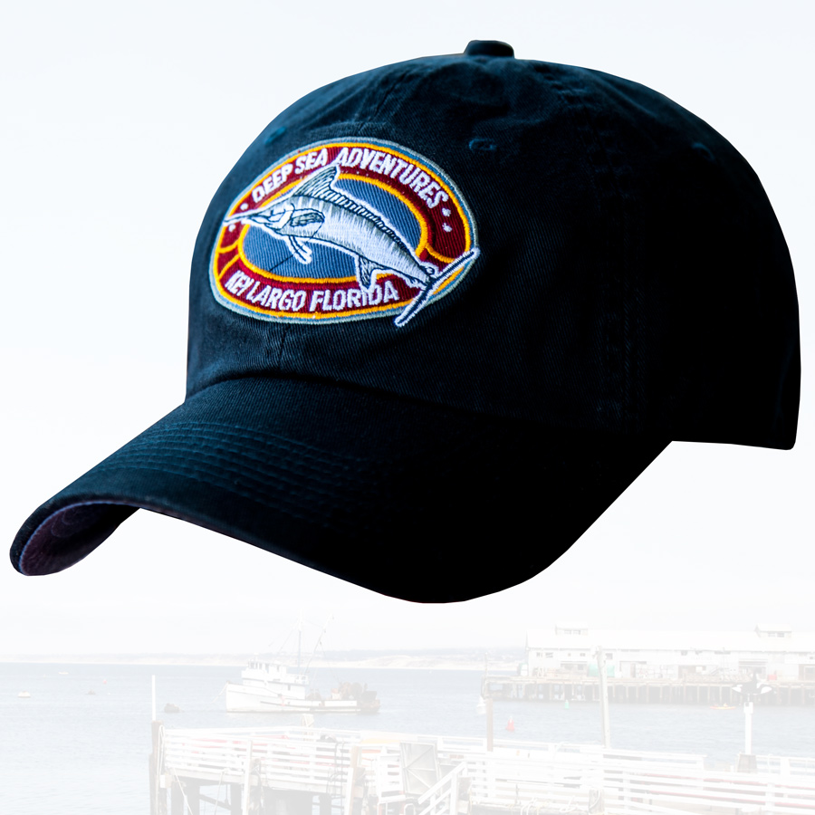 画像1: フロリダ キーラーゴ ディープ アドベンチャー フィッシング キャップ(ブラック)/DEEP SEA ADVENTURES KEY LARGO FLORIDA Fishing Cap (1)