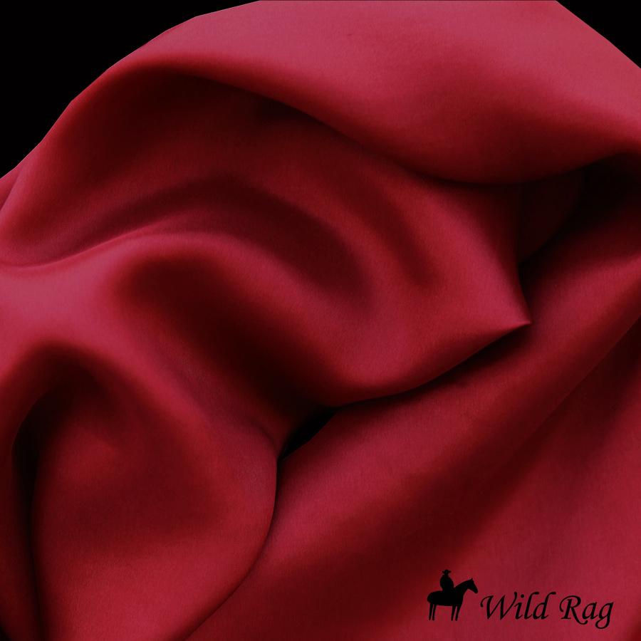 画像1: ワイルドラグ(カウボーイ大判スカーフ)ソリッド バーガンディー/100% Silk Wild Rags(Solid Burgundy) (1)