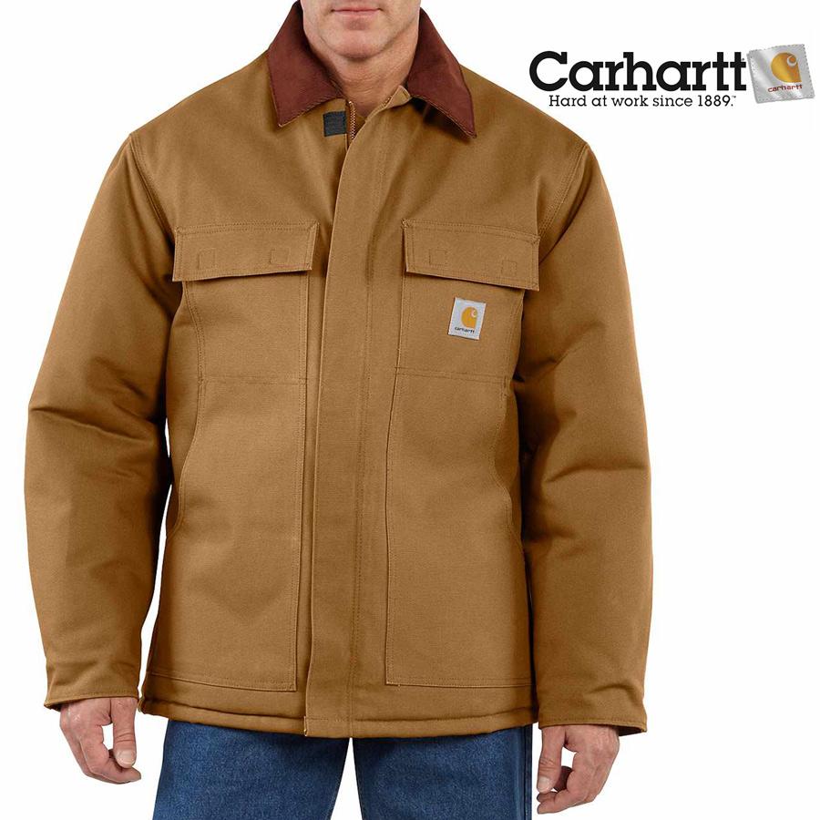 画像1: カーハート ダック トラディショナルコート アークティック キルト ラインド(カーハートブラウン)/Carhartt Duck Traditional Coat Arctic Quilt Lined(Brown) (1)