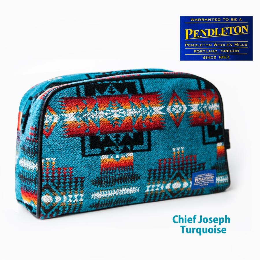 画像1: ペンドルトン チーフジョセフ トラベル エッセンシャル バッグ(ターコイズ)/Pendleton Travel Essential(Chief Joseph/Turquoise) (1)