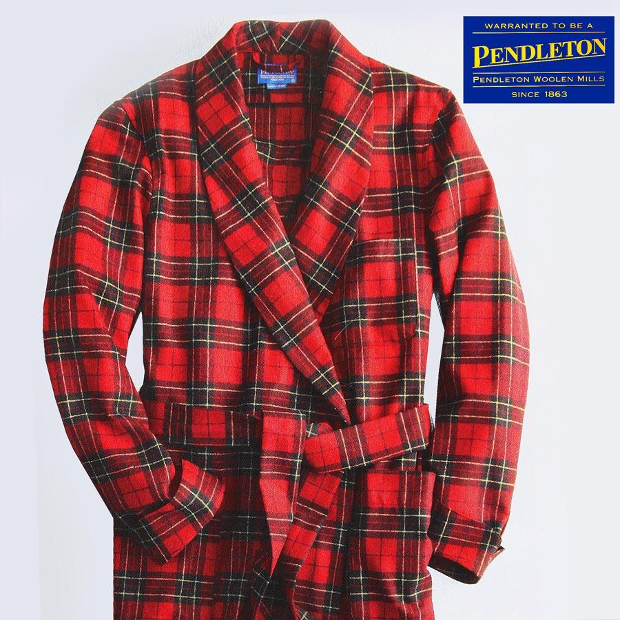 画像1: ペンドルトン ピュアーバージン ウール ローブ・ガウン(ブロディータータン)S/Pendleton Washable Whisper Wool Robe(Brodie Tartan) (1)