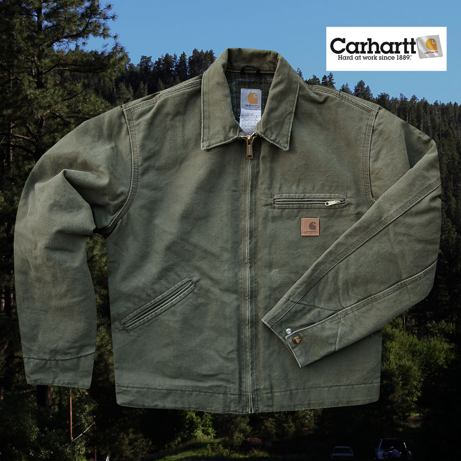 画像1: カーハート デトロイト ジャケット J97(アーミーグリーン)M/Carhartt Detroit Jacket(Army Green) (1)