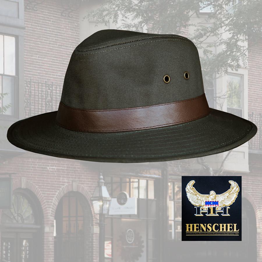 画像1: ヘンシェル キャンバス ハット(モス)/Henschel Canvas Hat (1)