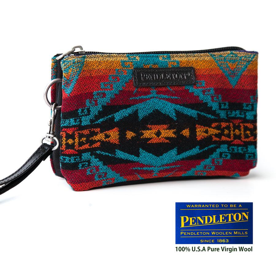 画像1: ペンドルトン スリーポケットキーパー(ターコイズ・バーガンディー・オレンジ)/Pendleton Three-Pocket Keeper (1)