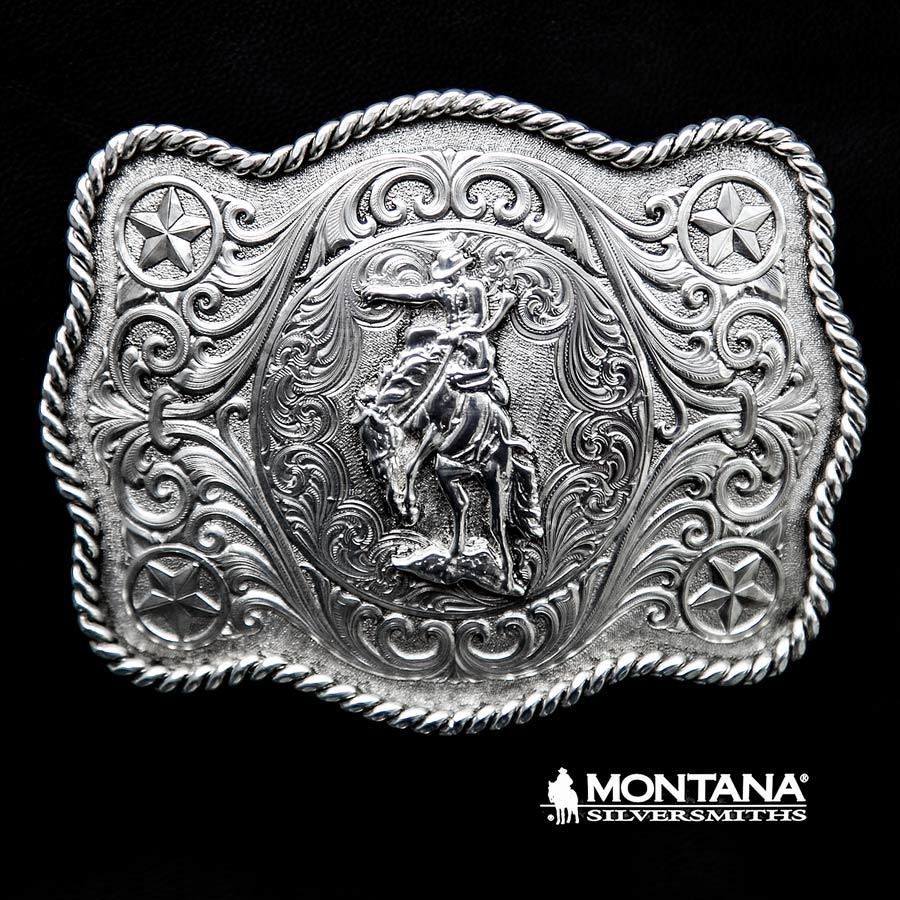 画像1: モンタナシルバースミス ウエスタン ベルト バックル サドル ブロンコ/Montana Silversmiths Western Belt Buckle Saddle Bronc (1)