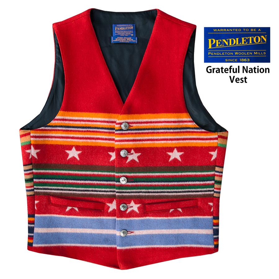 画像1: ペンドルトン ヴァージンウール グレイトフルネイション ウエスタン ベスト/Pendleton Western Wool Vest(Grateful Nation) (1)