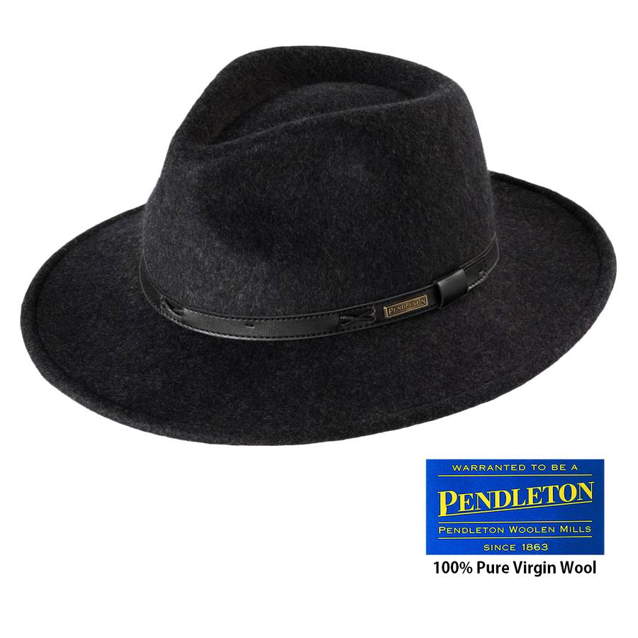 画像1: ペンドルトン インディ ハット(チャコール)/Pendleton Indy Hat(Charcoal Mix) (1)