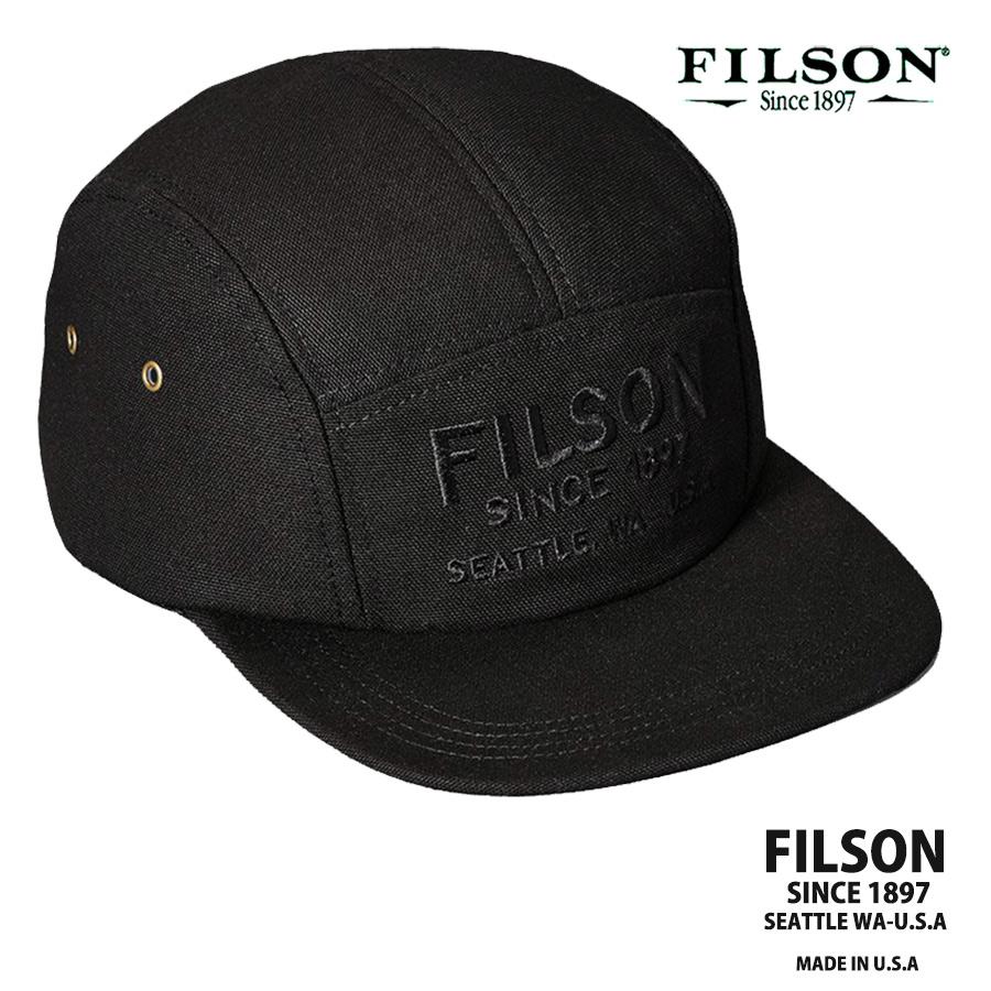 画像1: フィルソン 5パネル キャップ(ブラック)/Filson 5-Panel Cap(Black) (1)