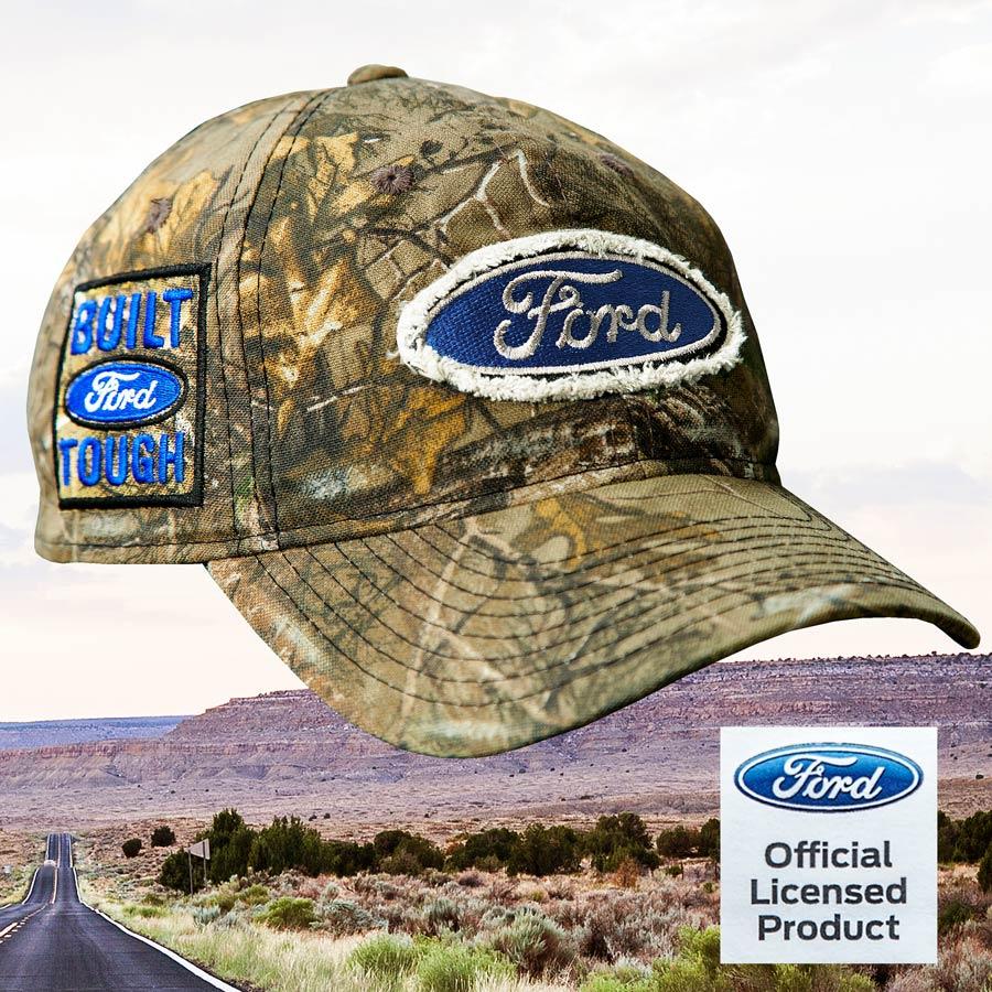 画像1: フォード リアルツリー カモ 刺繍 ロゴ キャップ/Ford  BUILT TOUGH Realtree Xtra Camo Cap (1)