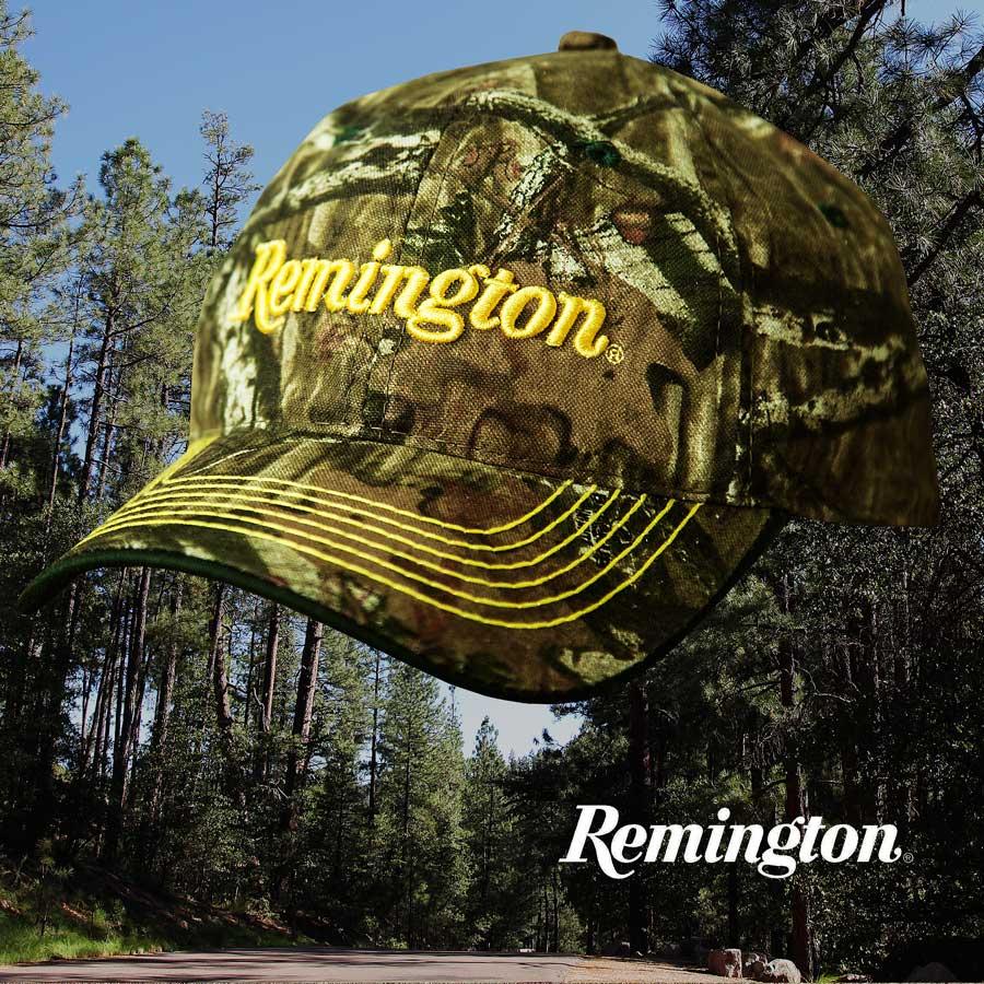画像1: レミントン 刺繍ロゴ モッシーオーク カモ キャップ/Remington Mossy Oak Break Up Infinity Camo Cap (1)