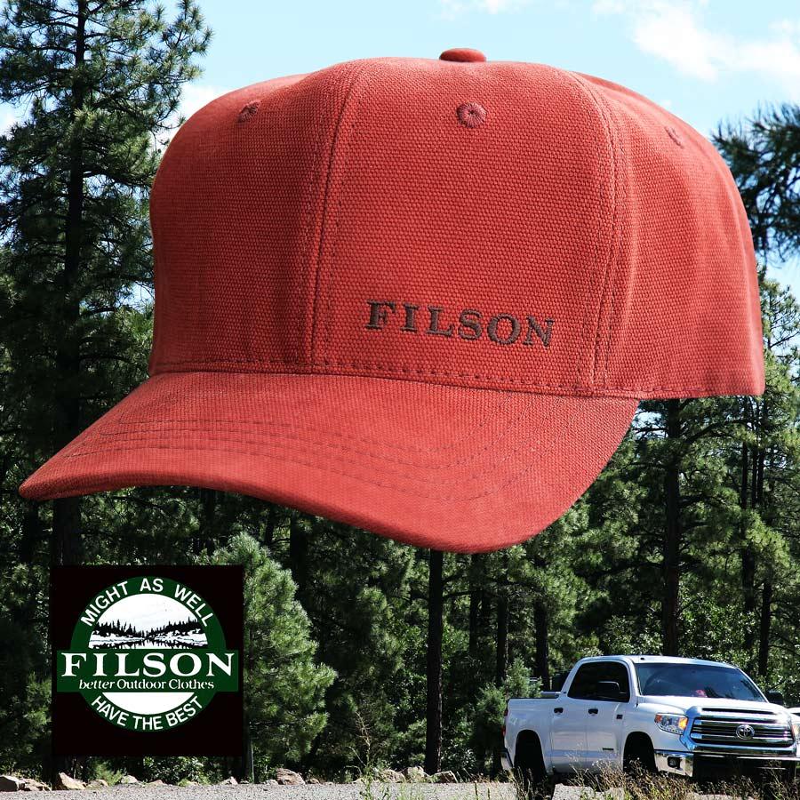 画像1: フィルソン ロゴ キャンバス ロガー キャップ(ラステッドレッド)/Filson Logo Canvas Logger Cap(Rusted Red) (1)