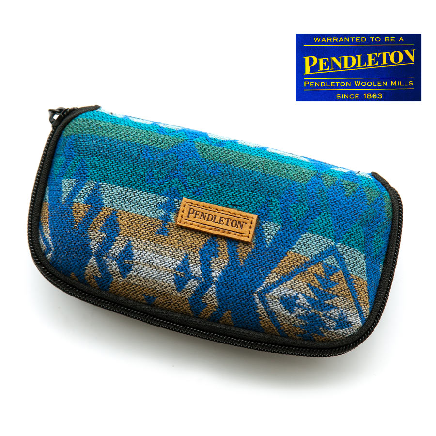 画像1: ペンドルトン メガネケース(ターコイズ)/Pendleton Eyeglass Case (1)