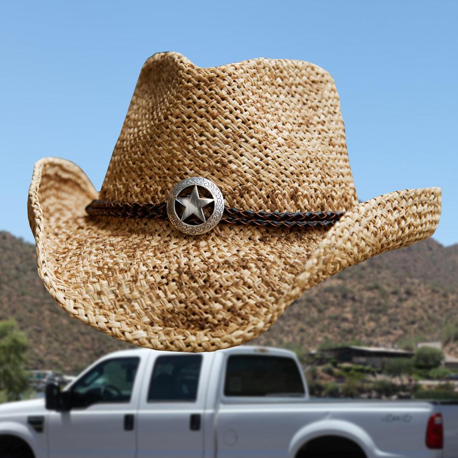 画像1: テキサス スター ストロー ハット/Western Straw Hat (1)