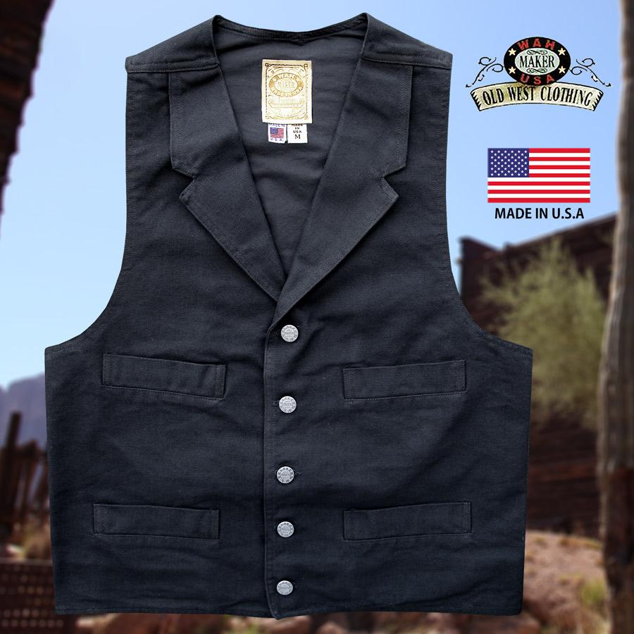 画像1: ワーメーカー キャンバス ベスト(ブラック)S/Wah Maker Canvas Vest (Black) (1)