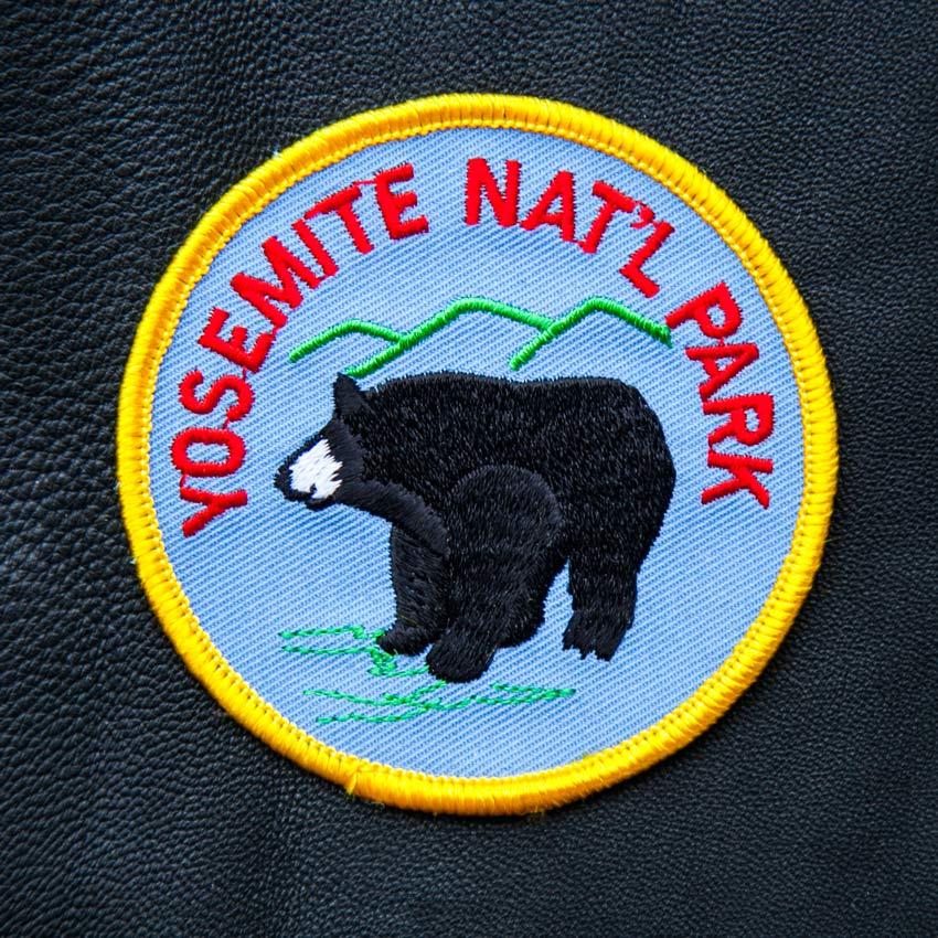 画像1: ワッペン 刺繍 ヨセミテ ナショナルパーク 国立公園 ブラックベアー/Patch YOSEMITE National Park (1)