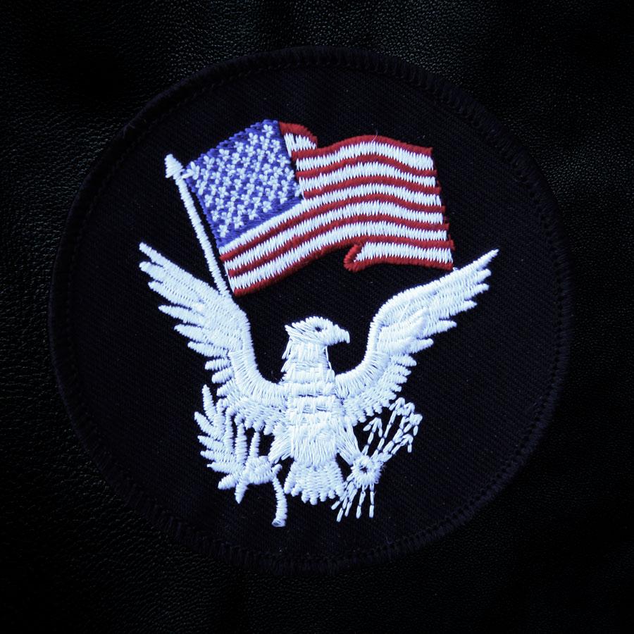 画像1: ワッペン アメリカ国旗&イーグル/Patch (1)
