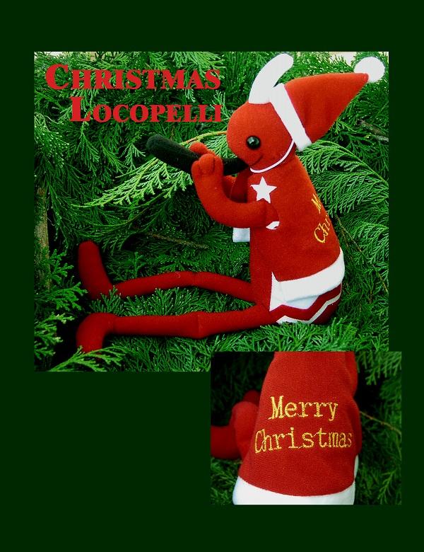 画像1: クリスマスココペリドール(ロコペリ)M/Holiday Kokopelli Doll(Locopelli)