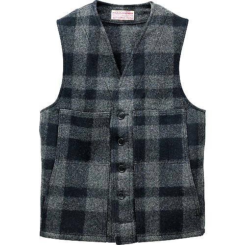 画像1: フィルソン マッキーノ ウールベスト(グレー×ブラック)/Filson Mackinaw Wool Vest (1)