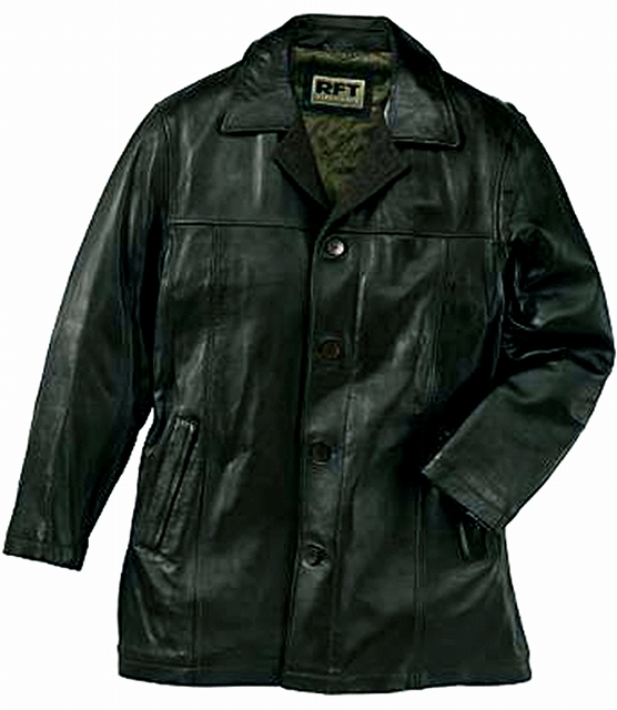 画像1: レインフォレスト レザー カーコート(ブラック)/RFT RAINFOREST Smooth Lamb Leather Car Coat (Black)