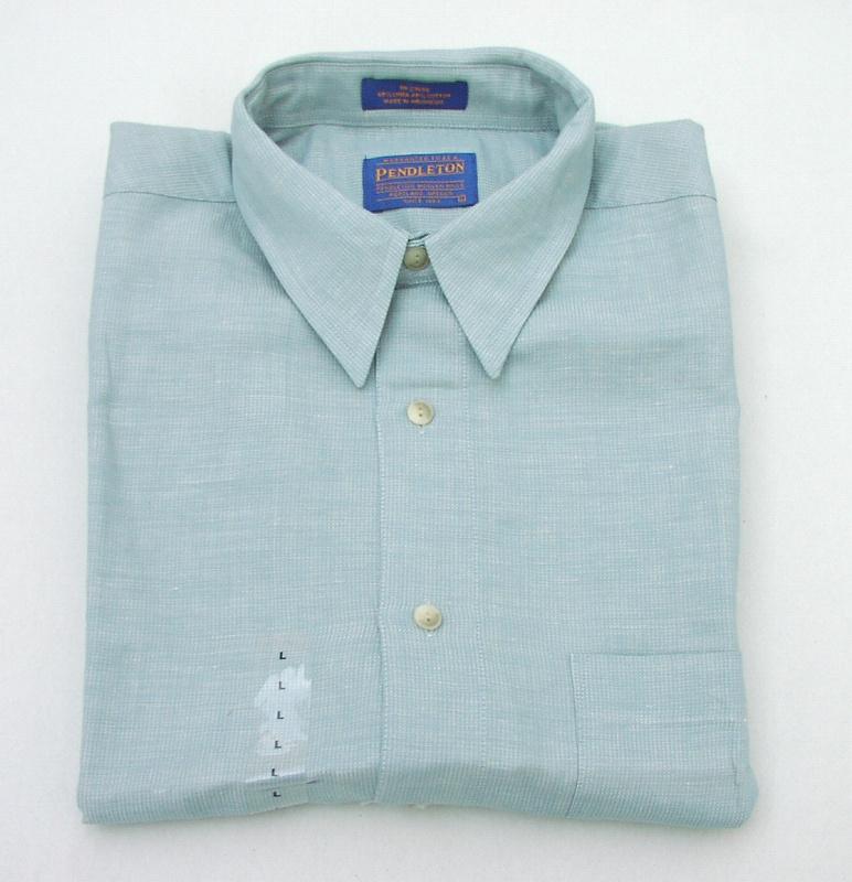 画像1: ペンドルトン  リネン・コットン 半袖 シャツ(グリーン)M/Pendleton Short Sleeve Shirt(Green)