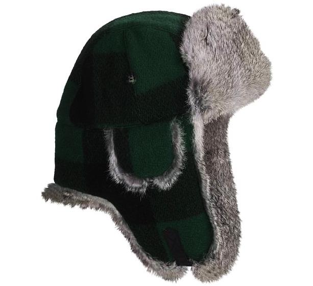 画像1: マッド ボンバー ハット 帽子(ラビット ファー グリーン・ブラック)/Mad Bomber Hat(Green Black) (1)