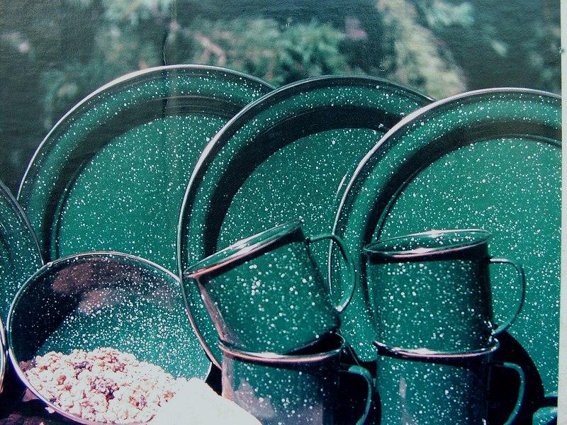 画像1: ほうろうディナープレート/Enamelware Dinner Plate (1)