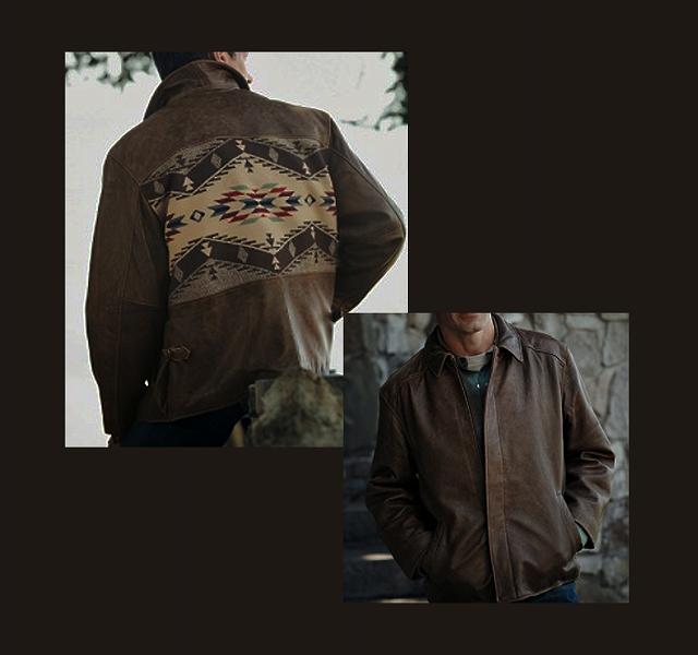 画像1: ペンドルトン レザー ジャケット (スピリットオブザピープルズ)/Pendleton Centennial Leather Jacket(Spirit of the Peoples) (1)