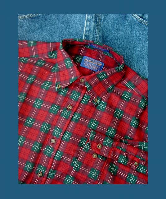 画像1: ペンドルトン サーペンドルトン ウールシャツ(レッド・グリーン・ホワイト)/Pendleton Sir Pendleton Wool Shirt(Red Green White) (1)
