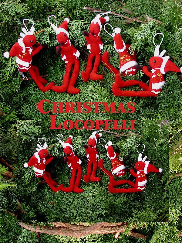 画像1: クリスマスココペリドール(ロコペリ)S/Holiday Kokopelli Doll(Locopelli)