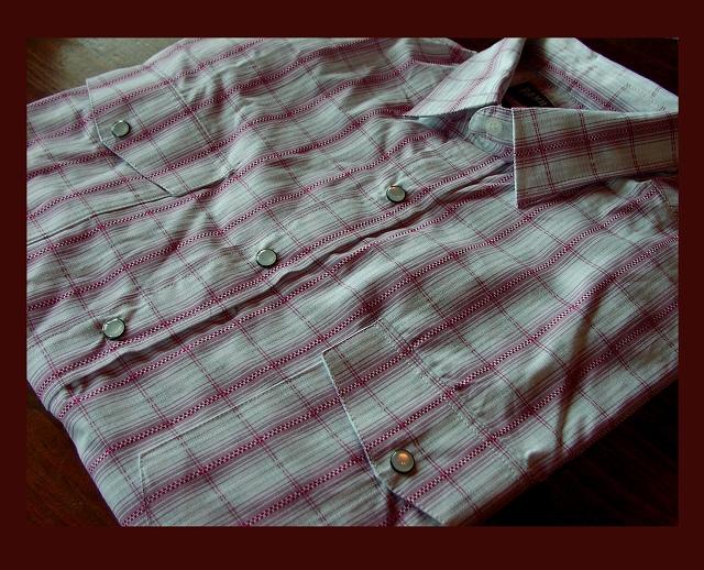 画像1: パンハンドルスリム ウエスタンシャツ・レッドチェック(長袖)/Panhandle Slim Long Sleeve Western Shirt(Lilac) (1)